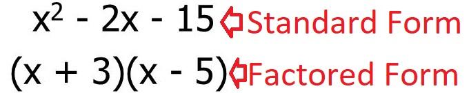 factor quadratic equation