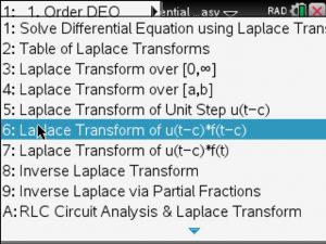 inverse laplace tranform – www TiNspireApps com – Blog