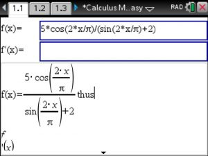 Finding Critical Points On The Tinspire Cx Cas Using Calculus Made